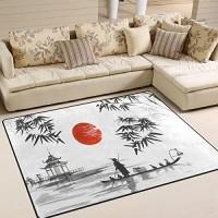 Use7 Traditioneller japanischer Bambus-Teppich für Wohnzimmer Schlafzimmer 160 cm x 122 cm