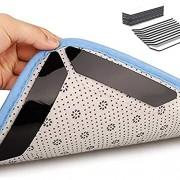 Teppichgreifer Antirutschmatte 32 Stück Antirutschmatte für Teppich Washable Wiederverwendbar Teppich Aufkleber Starke Klebrigkeit