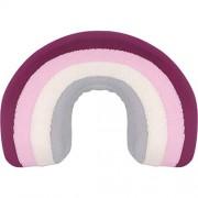 Kindsgut Regenbogenkissen aus 100% OEKO-TEX zertifizierter Baumwolle kuschelig weich für Babys und Klein-Kinder dezente Farben und schlichtes Design ideal für Kuschelecken Alma