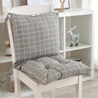 1PC Niedriglehner Stuhlkissen mit Rückenteil Sitz und Rückenkissen mit Bänder und Reißverschluss Polsterauflage Gartenstuhl Kissen Stil 19 45x45x7cm
