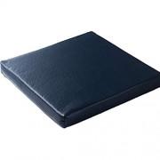 FCXBQ Leder Dicke rutschfeste Stuhlkissen Tatami Soft Sitzkissen Memory Foam Füllung bunt abnehmbar für Büro Esszimmerstuhl-Marineblau 50x50x5cm 20x20x2