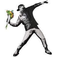 Beste seller Red Banksy Blume Bomber skulptur statue England Street Art Bomber Figure sammeln kunst spielzeug Statuen & Skulpturen