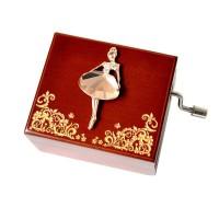 Holz Hand Ballett Muster Musical Box Geschenk für Geburtstag/valentinstag, musik Box Melody Schloss im Himmel Musikboxen