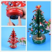 Klassische Musik Box Holz Clockwork Design Weihnachten Baum Mit Anhänger Miniatur Handgemachte Musik Box Für Geburtstag Valentines Geschenk Musikboxen