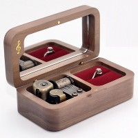 Sinzyo solid wood jewelry box ring music box for new year Christmas wedding and birthday Gift its a small world Musikboxen