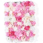 20 x Künstliche Blumenwand Paneele Seidenblume Rosenwand DIY Deko Hintergrund Hochzeit Blumenwand Kunstblumen 40 x 60 cm