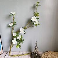 Ewige Rosen Lange große weiße Azalea-Niederlassung leicht zu gestalten künstliche Blumen mit gefälschten Blättern Seide + Schaum-Flores für Home Hochzeitsdekor Kunstblumen Color : White