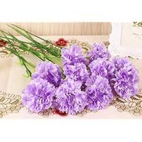 Gfashionmall Künstliche Nelken Kunstblumen Kunstblumen Seide Kunststoff Brautstrauß 20 Stück