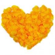 JZK® 1000 x Seide Rose Konfetti Rosenblätter Kunstblumen für Dusche Valentinstag Dating Heiratsantrag Hochzeit Feier Party Orange