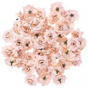 ULTNICE 50 Stück Blumenköpfe Künstliche Blume Köpfe Stapelia Köpfe Rose Kopf für Hausgarten Hochzeit Geburtstag Party Dekoration Leichter Kaffee
