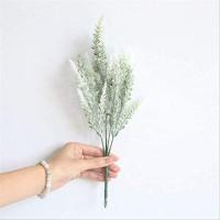 ZXL Romantische Provence Dekoration Lavendel Blume Seide Kunstblumen Getreide Dekorative Simulationspflanzen Kunstblumen 4er weiß