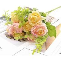 Ewige Blume 1 Strauß 5 Gabeln 10 Köpfe künstlicher Blumenstrauß Heimdekoration Blumenarrangement Bonsai DIY Wohnzimmer künstliche Blumen Hochzeit Weihnachten künstliche Blumen Farbe: 4