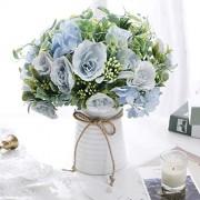 NAWEIDA Künstliche Blumen in Vase künstliche Blumenarrangements für Tischdekoration Tafelaufsätze für Esszimmertisch.