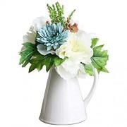 UNU_YAN Moderne Einfachheit Gefälschte Blumen-Verzierungen künstliche Blume mit Vase Set Gefälschte Blume Silk Blumen Blumenarrangements Wohnzimmer Esstisch Gesamt Blume