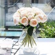 WJFQ Künstliche Blumen Künstliche Blumen Rose Braut Hochzeit Blumenstrauß 18pcs / Lots for Shoting Hochzeit Home Hotel-Partei-Dekoration Blumenarrangements