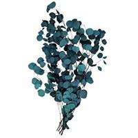 Yarnow Trockenblumenstrauß Eukalyptusblätter Trockenblumen Pflückt Blumenarrangement für Tischdekoration Blau