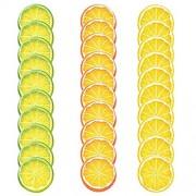 Artlink 30 Stück künstliche Zitronenscheiben Kunststoff Dekoration für Küche Zuhause Restaurant künstliche Früchte realistische Dekoration