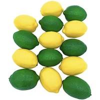 Dasksha Lebensechte künstliche Zitronen und Limetten – 14 Stück – groß – 7 künstliche Limetten und 7 künstliche Zitronen – realistische künstliche Früchte für Dekoration