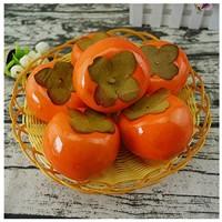 Fruchts Dekorativ 6 stücke Persimon Frucht gefälschte große Beeren Orange künstliche Früchte für Home Obst Shop Supermarkt Schreibtisch Büro Restaurant Dekorationen oder Requisiten Realistic Künstlich