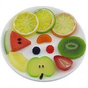 Gresorth Künstlich Frucht Scheibe Fälschung Zitrone Kiwi Apfel Kirsche Ananas Dekoration