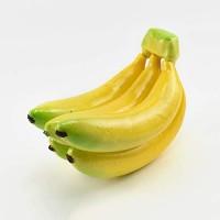 SHIEM 5 Köpfe Banane Kunstobst Obst Dekoobst Deko künstliches Obst Tischdekoration Früchte Hängende Ornamente Künstliche Früchte Schaumstoff Größe: 19CMX10CM