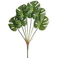 Aisamco 1 Stück künstliches tropisches Palmblatt gespalten Philodendron 7 Blätter gefälschte Palmblätter künstliche Pflanze künstliches Fensterblatt tropisches Weinreben Lederblatt 75 cm groß