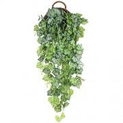 Hawesome Künstliche Hängepflanze Kunstpflanze Hängend Efeu Pflanze Weinreben Farne für Wand Innenbereich Ohne Hängekörbe Hochzeitsgirlande