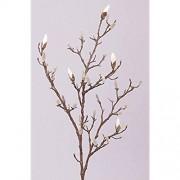 artplants.de Künstlicher Magnolien Zweig ASANA weiß 100cm - Künstlicher Zweig - Deko Magnolie