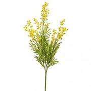 PARC Network Künstlicher Mimose Zweig gelb 70 cm - Silber akazie künstlich - kunstpflanze mimose - falsche mimose kunstzweig - akazie Plastik
