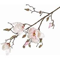 PARC Network - Magnolienzweig Deko weiß-rosa 85cm - Seidenblume Magnolie - Deko Zweig Magnolien - Kunstblume Magnolienzweig - Kunstzweig Magnolie