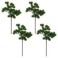 Vaorwne 4 Teilige KüNstliche Kiefern Zweige Kunststoff Kiefern Zweig Zubeh?R für Weihnachten DIY Craft BüRo Haus Events Dekor