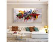 Abstrakte Bunte Malerei 100% Handgemalte Ölgemälde Auf Leinwand Handgemachte Große Größe Moderne Wand Kunst Für Hoouse Dekoration Malerei und Kalligraphie