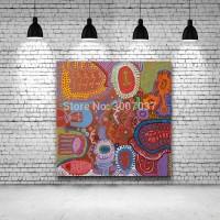 Abstrakte Öl Bild von der Wand Malerei Hause Dekorative Kunst Bild Hand Gemalt Yayoi Kusama Ölgemälde auf Leinwand Unframed Malerei und Kalligraphie