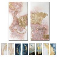Große Größe Gruppe 2 Pcs Hand Bemalt Abstrakten Ölgemälde auf Leinwand Wand Bild Kunst Wohnzimmer Hause 2 Panel wand Kunst Dekor Malerei und Kalligraphie
