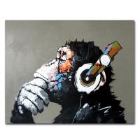 Hand Gemalt Kühlen Affe Leinwand Öl Gemälde Wand Kunst für Wohnzimmer Hause Tiere Decor für Kinder Zimmer Gestreckt Bereit zu hängen Malerei und Kalligraphie