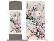 Red plum blossom frühling bilder, Chinesische exquisite seide malerei, scroll malerei, 2 optional Malerei und Kalligraphie