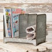 Colonial Tin Works Verzinktem Magazin Rack-Vintage Industrie Farmhouse Chic