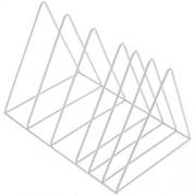 Dreieckige Bücherregal Aktenordner Zeitschriftenhalter Magazinständer Modern Metall Zeitungshalter Zeitschriftensammler Multifunktions CD Ständer Desktop Zeitungshalter Für Büro Zuhause Dekoration