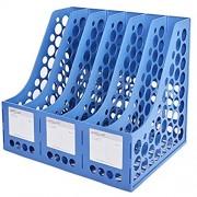 ZDAMN Zeitschriften- & Zeitungshalter Magazinhalter Rack-Desktop 6 Compartments Datei Dokumente Notebooks Desktop Lagerregal Farbe : Blau Size : 34x26.1x29.7cm