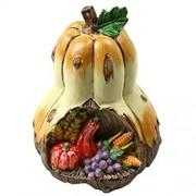 YOTONG Herbst-Dekorationen Kürbisse künstliche gefälschte Simulierte Gemüse Harz-Fertigkeit für Home-Küchen-Dekor Halloween Kleiner Kürbis