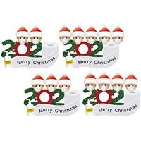 Amosfun Kühlschrank-Aufkleber Motiv: Frohe Weihnachten 2020 Survivor Familie Ornament Schneemann Kühlschrank-Aufkleber Weihnachten Urlaub Wanddekoration 4 Stück
