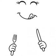 Aufkleber-Kunst-Wand Wand-Aufkleber-Karikatur-nette Lächeln Kühlschrank-Aufkleber Glückliche Lustige Expressions-Küche-Kabinett Kühlschrank-Wand-Aufkleber Schwarze Kunst-Wand-Aufkleber Home Creative