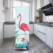 DEENLI Kühlschrankaufkleber Selbstklebender Kühlschrankaufkleber Küche Esszimmer Roter Flamingo