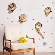 Katzenfreie Aufkleber für Eingangstür Kühlschrankaufkleber für Tierhandlung Dekoration Toilettenaufkleber