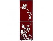 URGrace Kreativer Kühlschrank-Aufkleber Schmetterlingsmuster Wandaufkleber Heimdekoration Küche Wandbild Heim-Tapete weiß