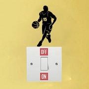 Hhuycvff vwuig Basketballspieler Dribbling Persönlichkeit PVC Wandschalter Aufkleber Aufkleber1404