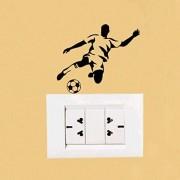 Hhuycvff vwuig Stilvolle Fußball Sport Mode PVC Schalter Wandaufkleber0