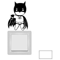 ilka parey wandtattoo-welt Lichtschaltertattoo Lichtschalteraufkleber Wandtattoo Sticker Aufkleber Held Superheld Hero M1995 ausgewählte Farbe: *weiß* ausgewählte Größe: *L - 14cm breit x 20cm hoch*