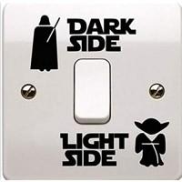 Lichtschalter-Aufkleber Mode Dunkles Licht Seite Schalter Panel Aufkleber Vinyl Aufkleber Aufkleber Kinderzimmer Wohnzimmer Lichtschalter Aufkleber Farbe: 1