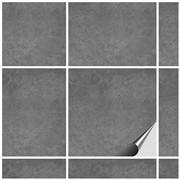 FoLIESEN Fliesenaufkleber 15x15 cm - Fliesen-Folie Bad - Klebefolie Küche - 25 Klebefliesen + Rakel Dekor Beton